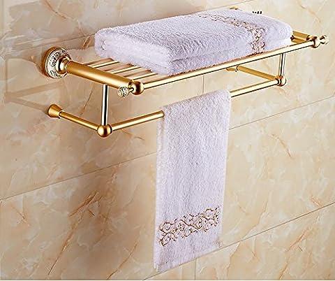 mmhy im europäischen Stil Handtuch Rack Keramik AL Golden Handtuch