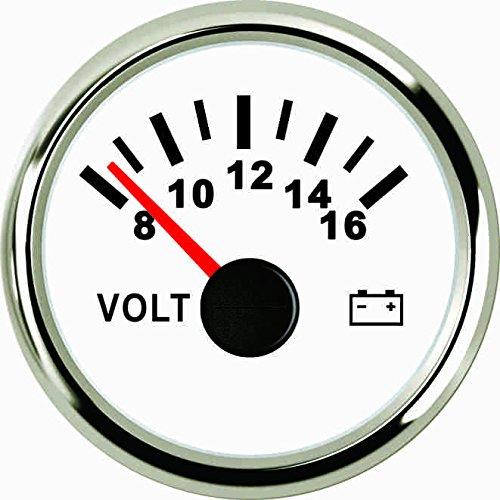 Voltmeter Volt Meter 12V/8-16V mit Hintergrundbeleuchtung 52mm (5,1cm) (12 V-meter)