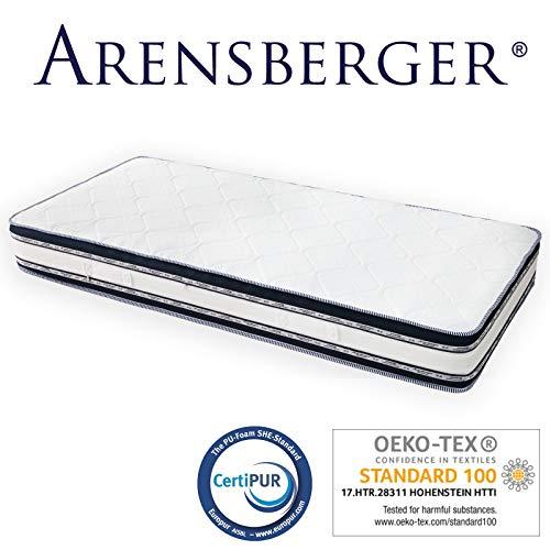 Arensberger Relaxx 9 Zonen Wellness Matratze mit 3D-Memory Foam, 140 cm x 200cm, Höhe 25cm, Raumgewicht 50 kg/m³, drei Schichten: Kaltschaum + Visco Smart Schaum + Gel Schaum - 3