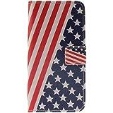 Galaxy A5 (2016) Étui Housse, Meet de pour Samsung Galaxy A5 (2016) étui coque Case Cover smart flip cuir Case à rabat Coque de protection Portefeuille - drapeau américain