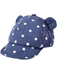 ed6a7edfe0a amazingdeal Summer Baby Dots Baseball Caps Cotton Cute Ears Girls Boys  Infant Sun Hats