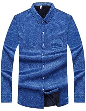 Camisa De Los Hombres De Invierno De Gran Tamaño Más Camisa De Cachemira Camisa Casual De Negocios