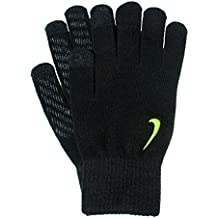 Nike Knitted Tech and Grip Glove Guantes, Otoño-invierno, hombre, color negro/amarillo, tamaño large