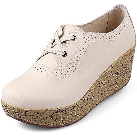 Scarpe primavera/Scarpe zeppe/Scarpe tacco alto in pelle/scarpe