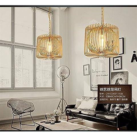 Ty548-Testa singola piccoli lampadari a personalizzare il villaggio creativo lampadario in ferro lampadari creative lampade a soffitto lampade retrò DW-D