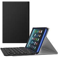 MoKo Funda Para Nuevo Amazon Fire 7 Tableta ( 7 pulgadas, 7ª generación, modelo de 2017) - Cubierta inalámbrica del teclado de Bluetooth con el despertar / el sueño auto para All-New Amazon Fire 7, Negro
