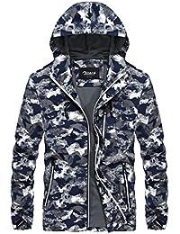 Zicac Männer Casual Kapuzenjacke Outdoor Camouflage Mantel