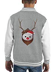 Baymax Big Hero 6 Christmas Antler Head Kid's Varsity Jacket