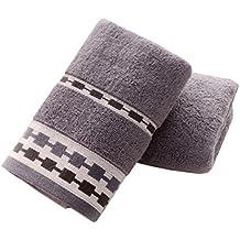 Conjunto de 2, [Moderno Gris] Deportes toalla de cara de la toalla de mano del baño Pareja de toallas