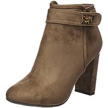 XTI Botin Sra. Antelina Taupe, Zapatos de Tacón con Punta Cerrada para Mujer