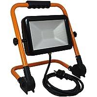 Tibelec 348460 Projecteur LED de Chantier Pliable, Métal, 50 W, Orange, 210 15f0bbfc044b