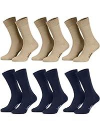 22afdfc53e6 Piarini®®®®®®®®®®®®®®®®®®® - Lot de 6 paires de chaussettes pour homme -  sans élastique - bambou…