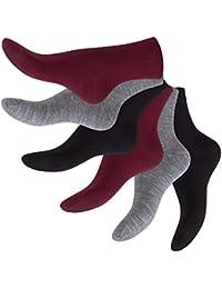 Original Footstar feine Wollsocken - Businesssocken für Damen und Herren - in eleganten Farben - warm - 6 Paar