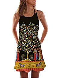 57e7bd9b42 Amazon.es  Etnica - Blanco   Vestidos   Mujer  Ropa