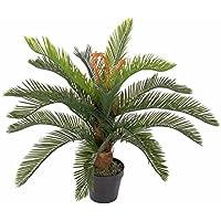 Homescapes Cycas plante vert artificielle en pot 75 cm