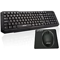 Standard USB Keyboard & Mouse with UK Layout - Incl. Mouse Mat