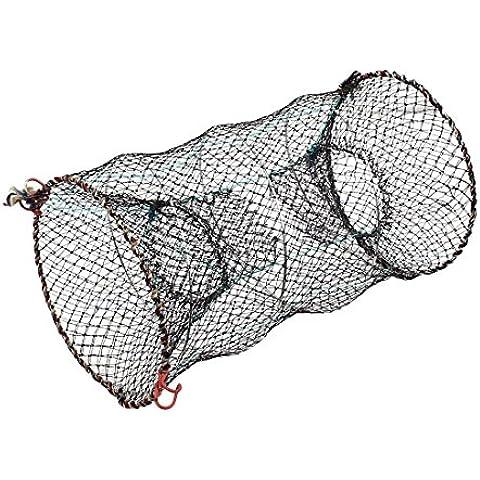 Nylon langosta cangrejo Mantener la pesca del molde jaula de red 25 cm 10 pulgadas de alta
