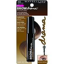 Maybelline Brow Drama Máscara de Cejas, Tono: Medium Brown - 7.6 ml