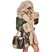 Roiii Mujeres Sudaderas con Capucha Parka Chaqueta de Grosor Invierno Abrigo Largo Cardigan Plus tamaño 8