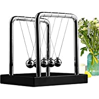 Meyall Newton's Cradle Balance Balls, Art in Motion Toys for Kids Adults, Science Physic Psychology Educational Kits (Medium Size)