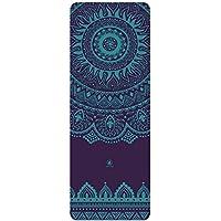 Homfa Esterilla Yoga Antideslizante Yoga Mat 2-in-1 de Tapete y Toalla Double Capa 4.2mm de Grosor Colchoneta de Yoga de Caucho Natural 185 x 67.4cm (Morado Oscuro)