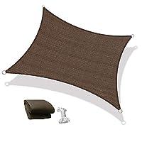 Sun Shade Sail Shade Net Canopy UV Protection Umbrella Rectangle 3X5 Meter Brown