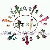 Accessoire de maisons de poupées miniature - Aiguilles a tricoter et bobines de fils