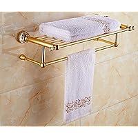 Mmhy stile europeo portasciugamani in ceramica al Golden portasciugamani bagno mensola spazio alla fine del WC accessori bagno, bright your life A
