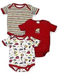 BornBabyKids Baby Cotton Rompers Summer Suit or Bodysuit Pack of 3