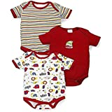 BornBabyKids Baby Cotton Rompers Summer Suit or Bodysuit Pack of 3