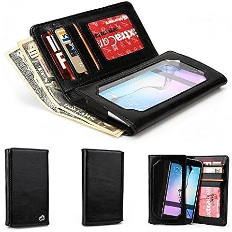 Kroo Bifold Huawei Y635/tipo diastar Honor 4C ajuste Universal varios colores disponibles Pantalla con negro