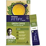Saffola FITTIFY Gourmet Green Coffee Instant Beverage Mix - 30 g (Classic, 15 Sachets)