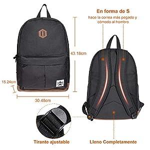 51M  C1auJL. SS300  - Gemeer Mochila Escolar,Mochila Hombre,Mochila Laptop,resistente al agua, Material de poliéster para Laptop de 15…