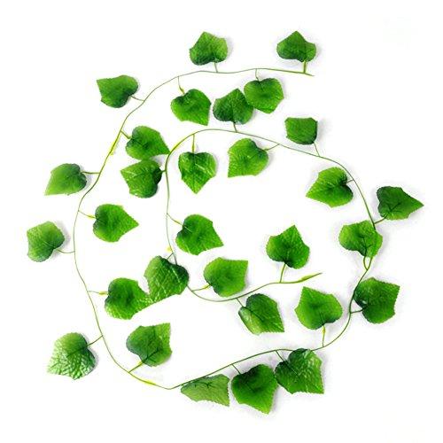 nstliche Grün Kette Grape Ivy Blättern, Grape Leaf Rattan Simulation Pflanzen Vine für Home Raum Garten Hochzeit Girlande Außerhalb Dekoration (Grape Vine Dekorationen)