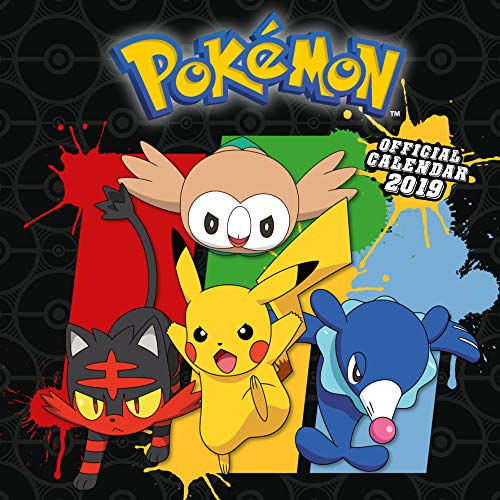 Pokemon Official 2019 Calendar - Square Wall Calendar Format