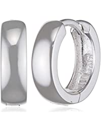 SilberDream Ohrringe Creole Glanz klein 12mm 925 Sterling Silber Ohrring SDO333S2