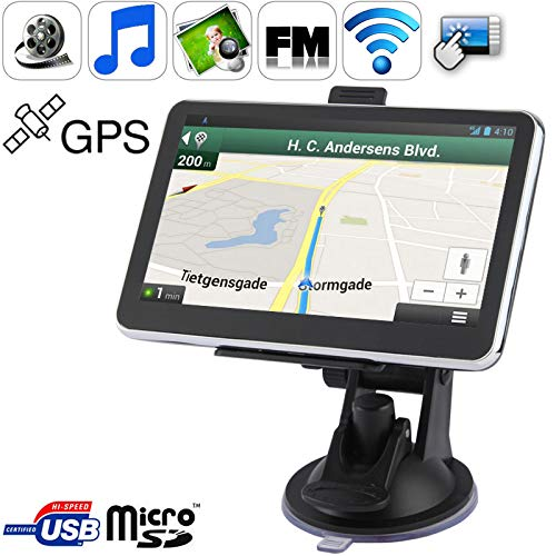5,0-Zoll-TFT-Touchscreen-Auto-GPS-Navigator mit 4 GB Speicher und Karte, Unterstützung für AV-Eingang, Touch Pen, Sprachübertragung, FM-Sender, Bluetooth-Funktion, integrierter Lautsprecher, Auflösung -