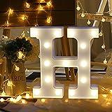TAOtTAO Home Decoration A bis Z 26 englische Buchstaben Fernbedienung Alphabet Letter Lights LED Leuchten weiße Kunststoff Buchstaben Standin (H)