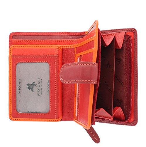 ... Portafoglio da Donna in Pelle Visconti Rainbow Stile RB51 Rosso Multi  Rosso Multi ... d370e493dce