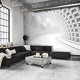 decomonkey | Fototapete 3D Kugeln weiß grau Abstrakt 350x256 cm XL | Design Tapete | Fototapeten | Tapeten | Wandtapete | moderne Wanddeko | Wand Dekoration Schlafzimmer Wohnzimmer | Tunnel | FOC0012a73XL