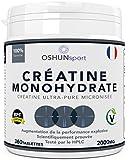 Créatin | Comprimés de créatine de monohydrate | Augmentation de la puissance, de la performance explosive et de la masse musculaire maigre scientifiquement démontrée | OSHUNsport