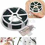 30M Roll Wire Twist Ties Green Garden Cable Plastic Gardening Climbers Slicer