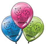 ALMACENESADAN 0679, Pack 16 balloons Pocoyo and Nina; for parties and birthdays. Ideal to decorate your parties.