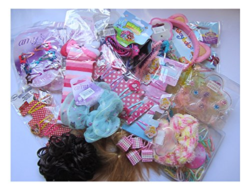 30-items-ex-high-street-job-lot-wholesale-mixed-girls-hair-accessories-by-various