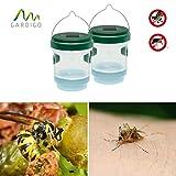 Gardigo Solar Insektenfalle 2er Set 2in1 Wespenfalle und Mückenfalle mit Solar-LED-Leuchte