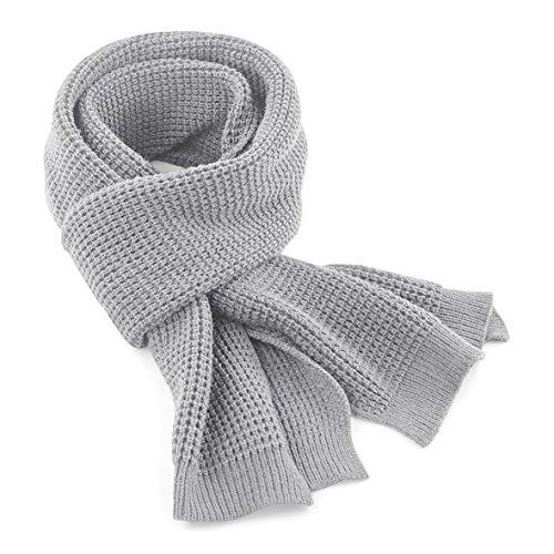 Beechfield - sciarpa lavorazione a maglia - adulti/unisex (taglia unica) (grigio)