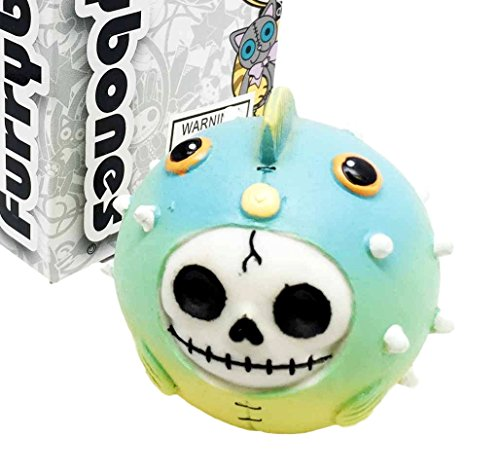 (Furrybones Cute puffington Skelett-Monster Aufgeblähter Fisch Ornament Figur)