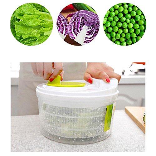 Baiwka Spinner De Ensalada Manual Verduras Gran Capacidad