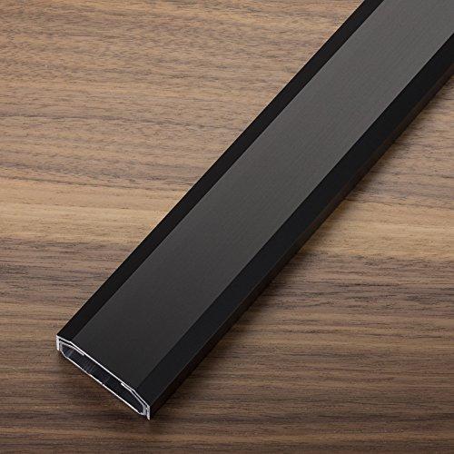 Design Kabelkanal 1100 x 50 x 20 mm schwarz eloxiert mit Platz für viele Kabel Kabelführung Installationskanal Design trifft auf Funktion von SCHÜCO ALU COMPETENCE
