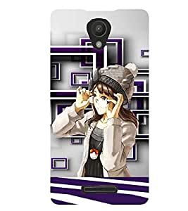 PRINTSWAG WINTER GIRL Designer Back Cover Case for XIAOMI REDMI 3S